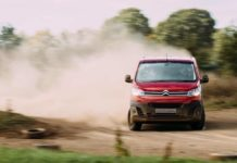 Citroen Dispatch being drifted by WRC star Kris Meeke