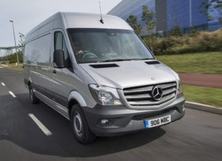 Mercedes-Benz Sprinter on road