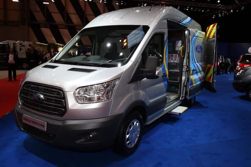 Ford Transit mobile servicing on show at CV Show 2017