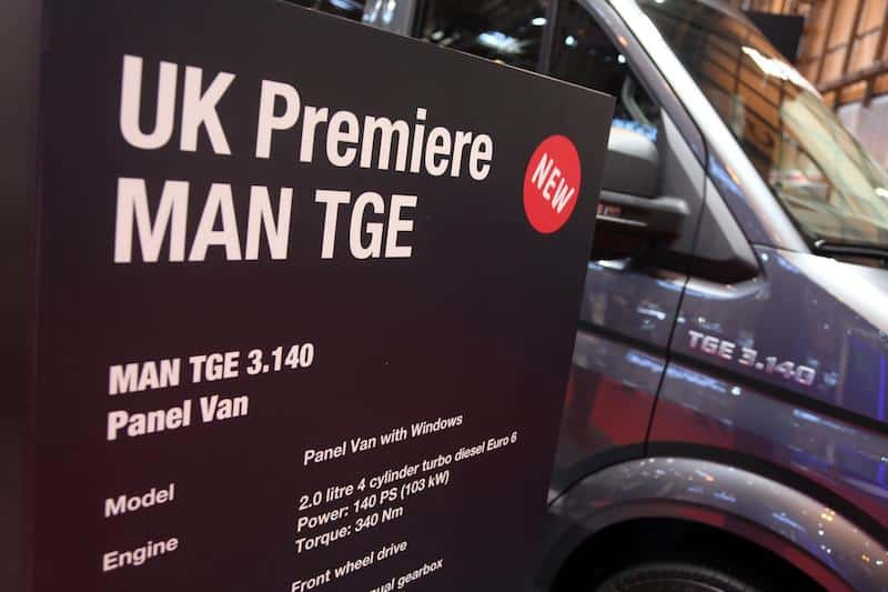MAN launches TGE van at CV Show 2017