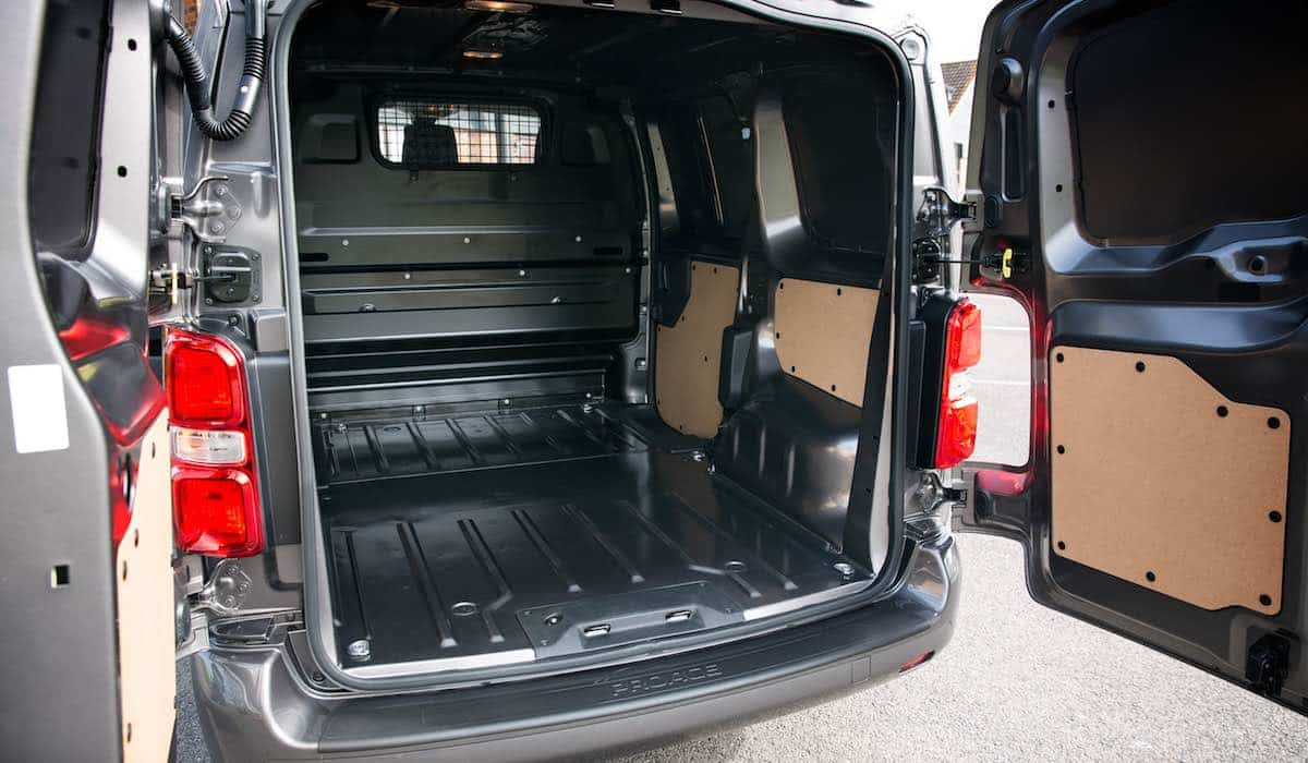 Toyota Proace van cargo bay conversion