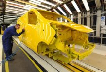 Vauxhall Vivaro on the Luton production line