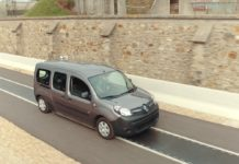 A Renault Kangoo ZE van demonstrates dynamic wireless electric charging