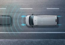 Volkswagen Crafter with autonomous emergency braking