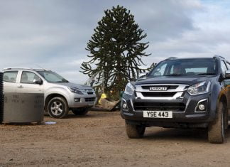 Isuzu D-Max on construction site