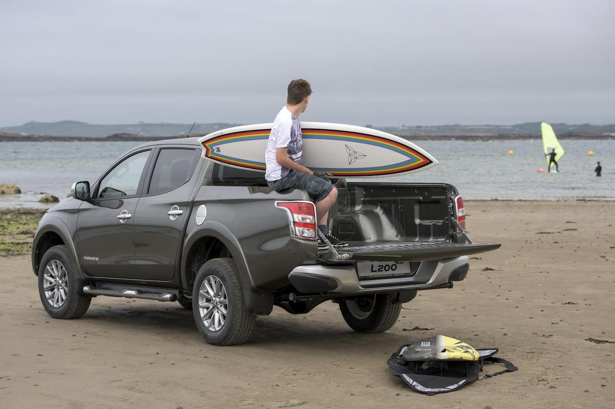 Mitsubishi L200 on beach