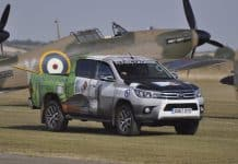 Toyota Hilux supports Flying Legends