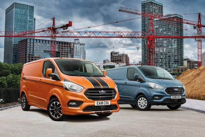 Ford Transit Custom leads LCV registrations again, September 2018