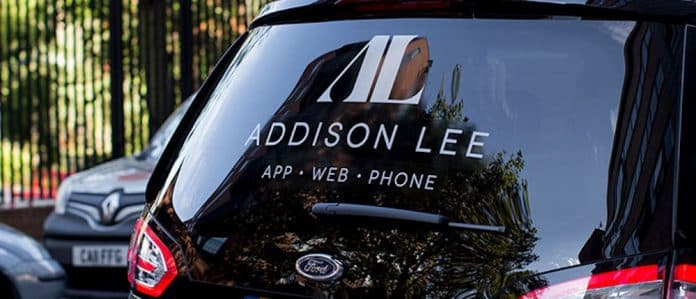 addison lee logo on back of a vehicle