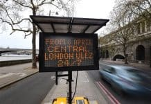 Ultra Low Emission Zone (ULEZ) warning - London 2019