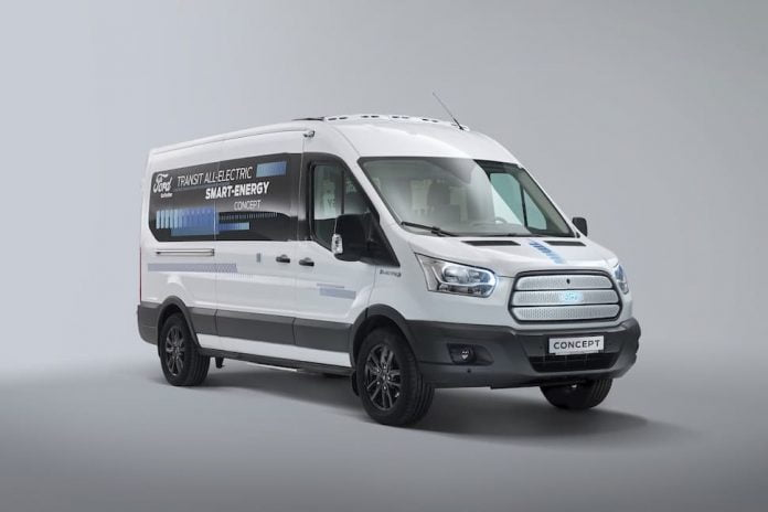 Ford Transit electric vans