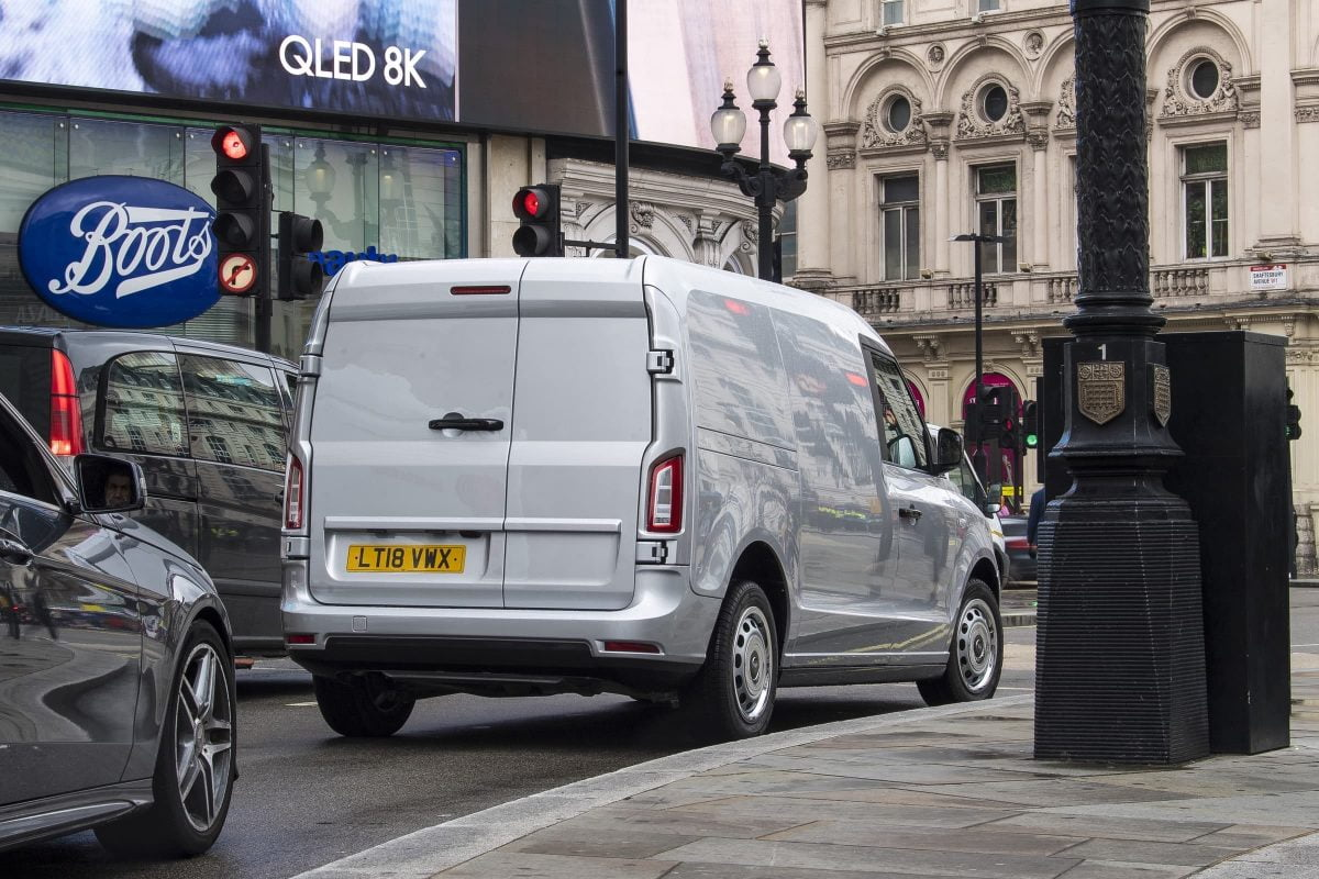 LEVC plug-in hybrid van - rear van | The Van Expert