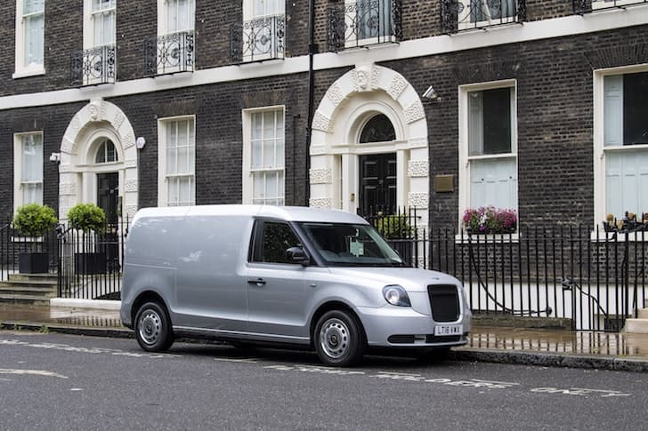LEVC plug-in hybrid van - side view | The Van Expert