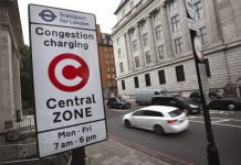 congestion charge sign in London | The Van Expert