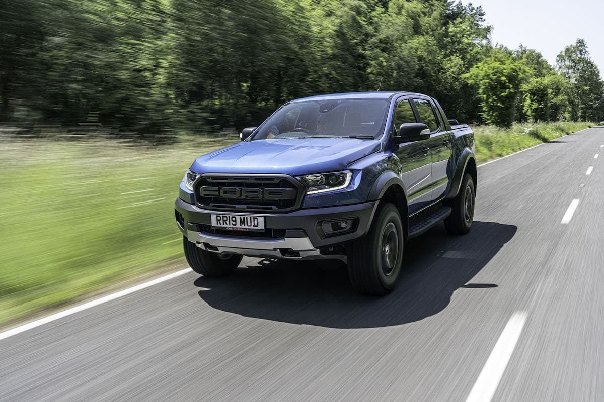 Ford Ranger Raptor road test 2019 - front view | The Van Expert