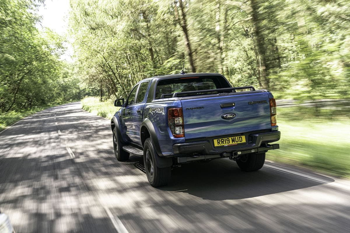 Ford Ranger Raptor road test 2019 - rear view | The Van Expert