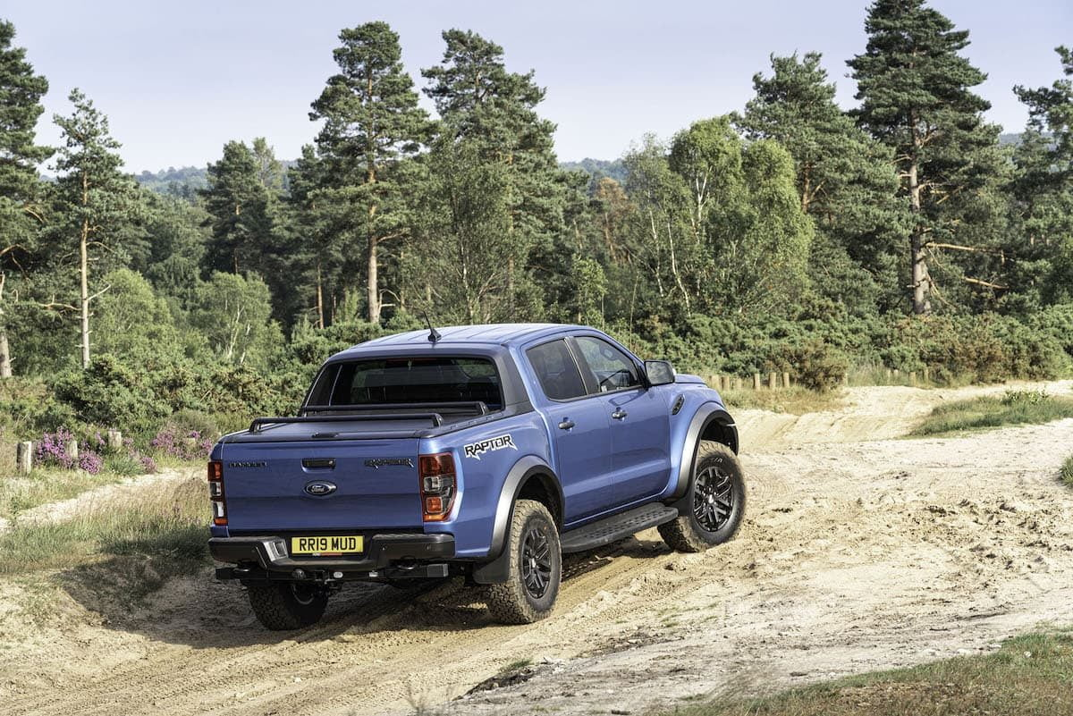 Ford Ranger Raptor review 2019 - rear view | The Van Expert