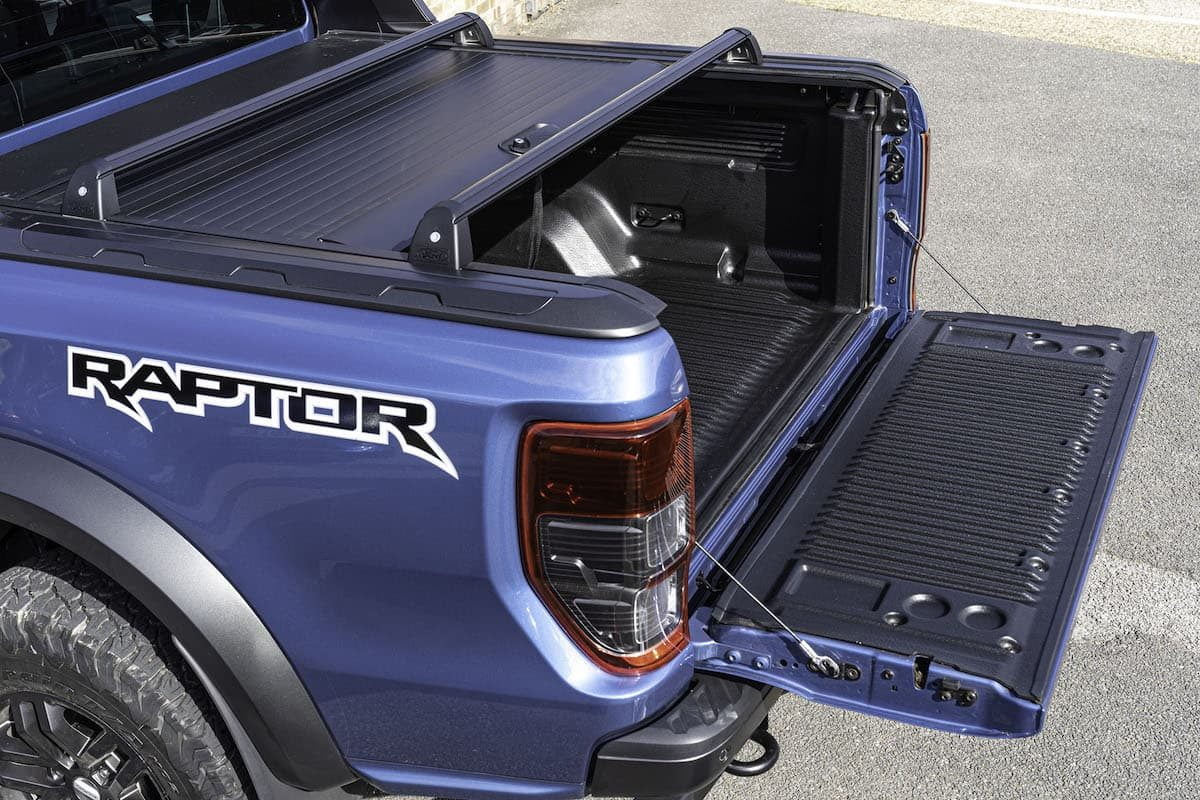Ford Ranger Raptor review 2019 - tailgate | The Van Expert
